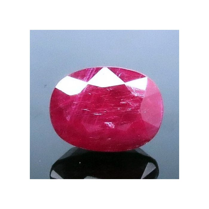 Certified Natural Burmish Ruby Gemstone, 4.88 Carat / 5.42 Ratti