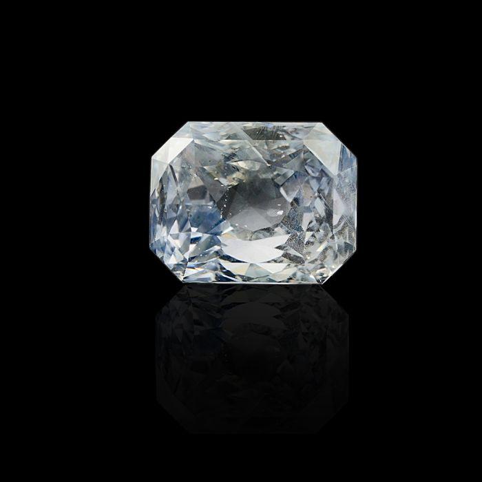 4.95 Carat/ 5.50 Ratti Natural Ceylon White Sapphire Gemstone