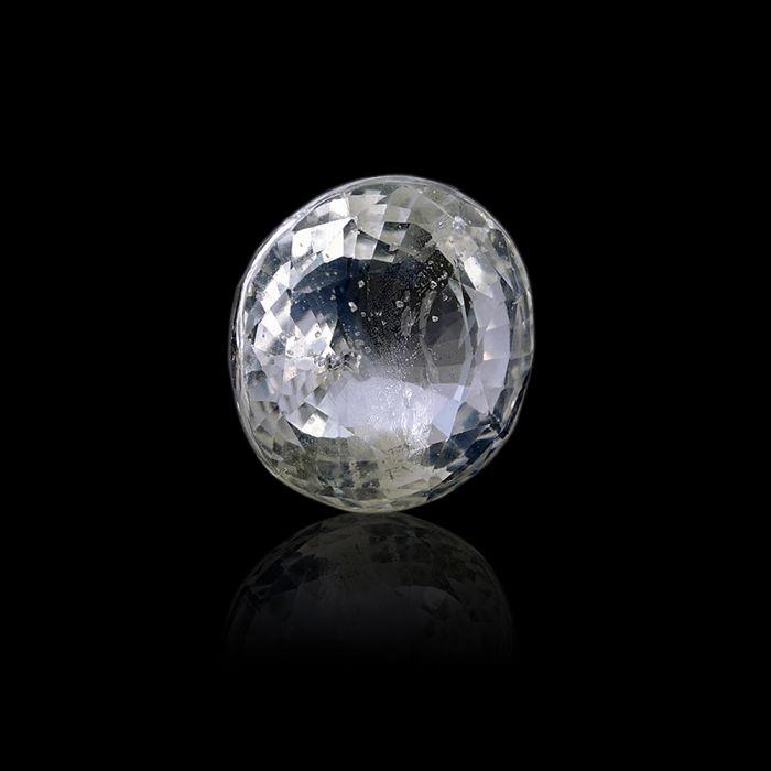 6.06 Carat/ 6.65 Ratti Natural Ceylon White Sapphire Gemstone