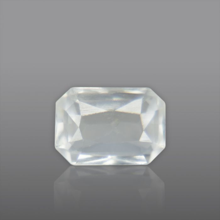 Natural White Sapphire, Princess Cut 1.72 Carat/ 1.90 Ratti
