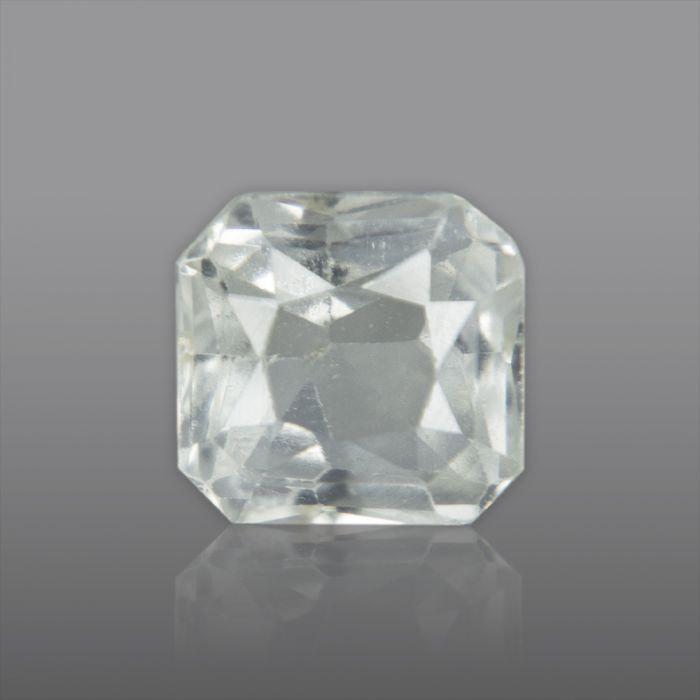 Natural White Sapphire, Princess Cut 1.69 Carat/ 1.87 Ratti
