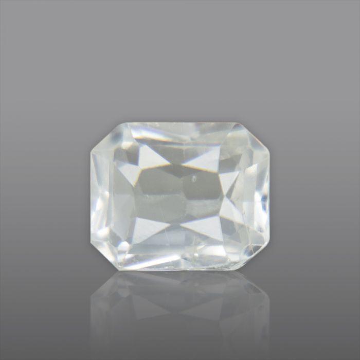 Natural White Sapphire, Princess Cut 1.66 Carat/ 1.87 Ratti