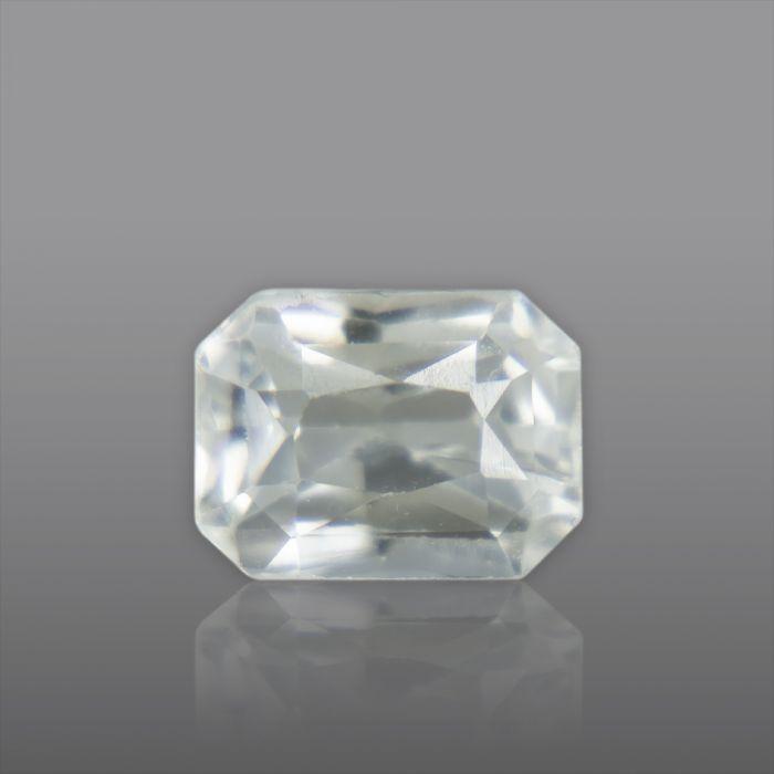 Natural White Sapphire, Princess Cut 1.38 Carat/ 1.53 Ratti