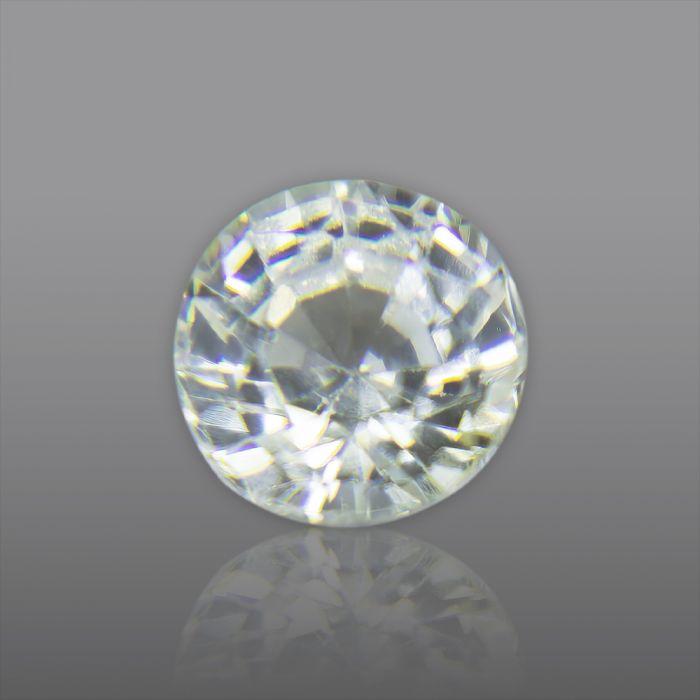 Natural White Sapphire, Round Natural Ceylon White Sapphire 1.47 Carat/ 1.63 Ratti